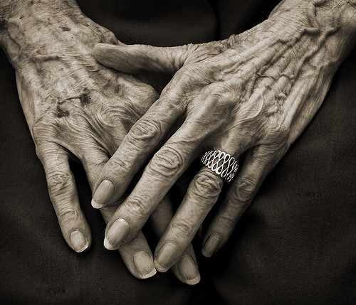 hands of 87 years