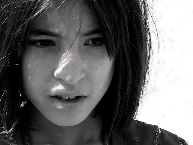 Afghani girl in Isfahan