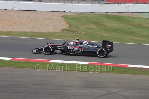 Jenson Button in the 2015 British Grand Prix at Silverstone