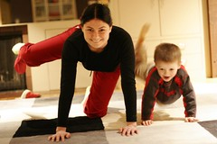 mother and son practice pilates for pregnancy ...