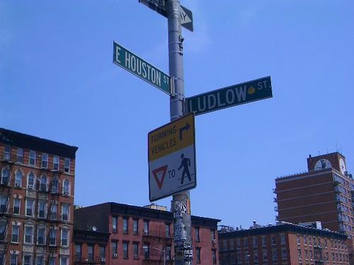 Houston Street Sign, New York