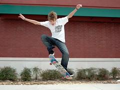 Wild Hair Skateboarder