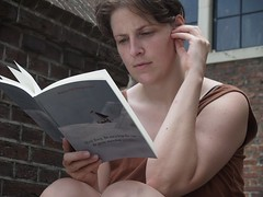 woman reading poetry