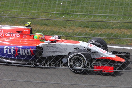 Roberto Merhi in Free Practice 3 for the 2015 British Grand Prix at Silverstone