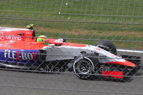 Roberto Merhi in Free Practice 3 for the 2015 British Grand Prix at Silverstone