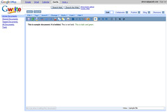 Google Writer as part of the