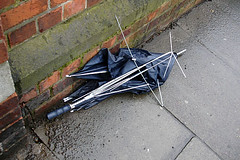 broken black umbrella