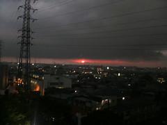 夕立と太陽