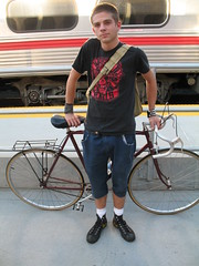 Bicycle at Caltrain Diridon platform San Jose