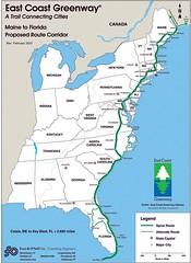 East Coast Greenway Map