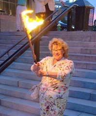 Torch Bearer in Procession