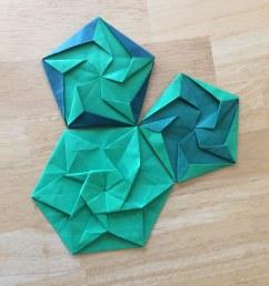 diy origami hexagonal box easy mycrafts com [ 945 x 1024 Pixel ]