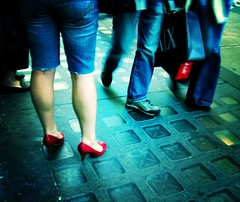 Red Shoes & Walking Bags