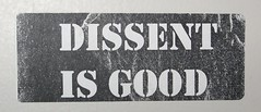 Dissent is Good, thanks to acousticdad@flickr
