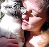 Q and Me Enjoying the Sun