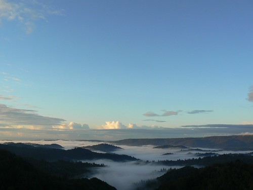 Sunrise over the San Lorenzo Valley
