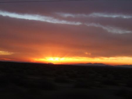 Sunset outside of LA