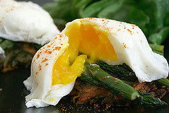 Poached egg dish