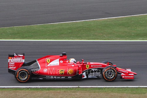 Sebastian Vettel's Ferrari in Free Practice 3 at the 2015 British Grand Prix