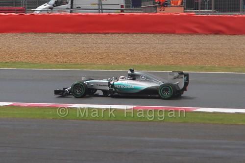 Lewis Hamilton in the 2015 British Grand Prix at Silverstone
