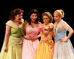 "Left to right:  Lindsay Mendez as Betty Jean, Lowe Taylor as Cindy Lou, Misty Cotton as Missy and Bets Malone as Suzy in the 2010 Music Circus premiere of ""The Marvelous Wonderettes"" at the Wells Fargo Pavilion August 17-22.  Photo by Charr Crail."