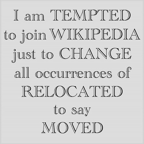 I am tempted to join Wikipedia