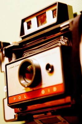 Polaroid Camera Mounted on the Wall (by kk+)