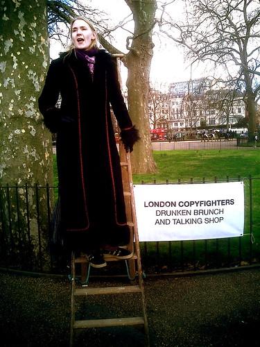 Suw Charman, London Copyfighters Drunken Brunch and Talking Shop speeches at Speakers Corner, Hyde Park, London by Cory Doctorow