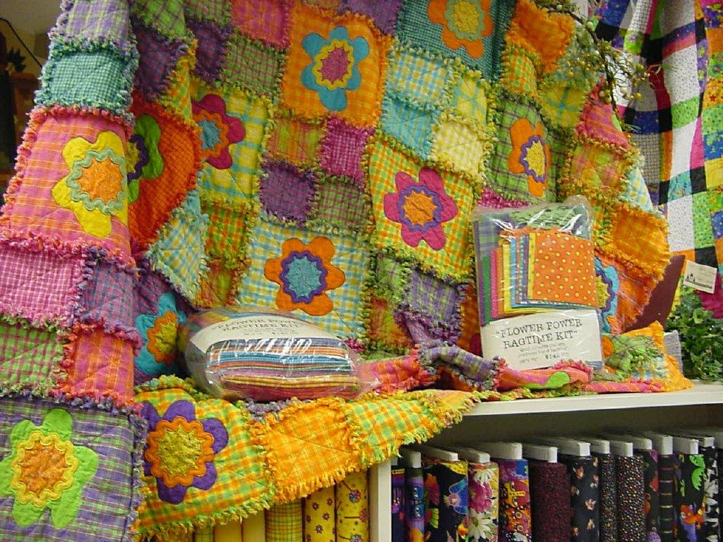 bright flower quilt
