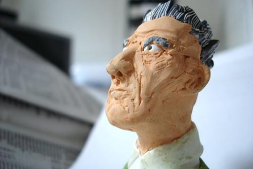 Fimo Samuel Beckett by Jutta @ flickr.