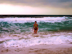 Ikaria 193 (isl_gr (Mnesterophonia)) Tags: beach girl island beautyconcealed ikaria icaria  aegean experiment replacement heavymetal greece bodysurfing waterdreams meltemi messakti
