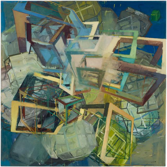 chaotic switch,120 x 120 cm, Oil/Eggtempera, 2014