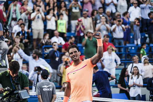 """Rafael Nadal salutes the crowd upon defeating David Goffin • <a style=""""font-size:0.8em;"""" href=""""http://www.flickr.com/photos/125636673@N08/31192919813/"""" target=""""_blank"""">View on Flickr</a>"""