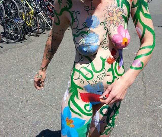 Fremont Solstice Parade Naked Girl 2015