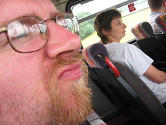 Jim on the Bus, being Handsome