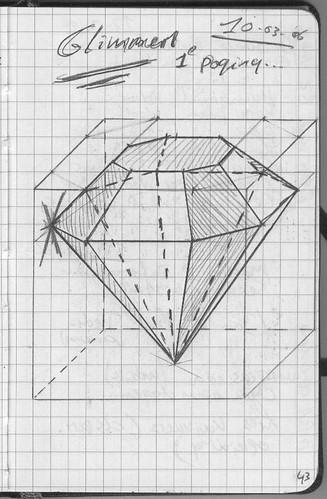 how do you draw very reflective jewelry(diamonds, rubies