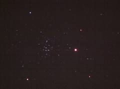 Saturn and the Beehive cluster