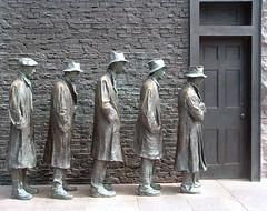 Queue pour des emplois en 1929