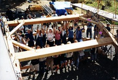 Styer Barn Raising (mid-lift)