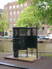 Amsterdam Pissoir, by attommb in Flickr