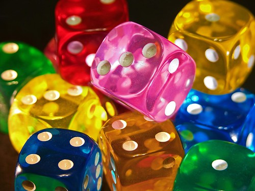 various colored dice