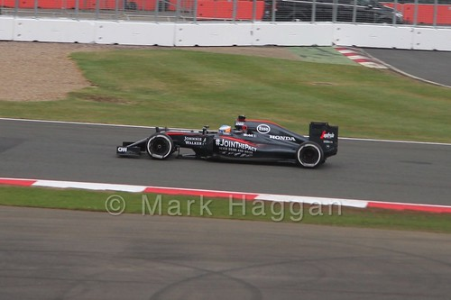 Fernando Alonso in the 2015 British Grand Prix at Silverstone