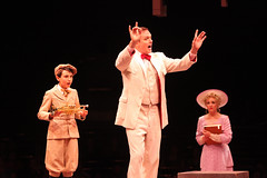 """(L to R) Carter Thomas, Patrick Cassidy and Brandi Burkhardt in the Music Circus production of """"The Music Man"""" at the Wells Fargo Pavilion July 31 - Aug 5. Photo by Charr Crail."""