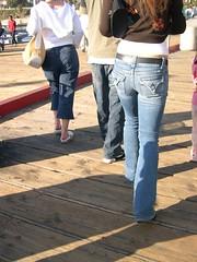 Girl's butt, Santa Monica pier.