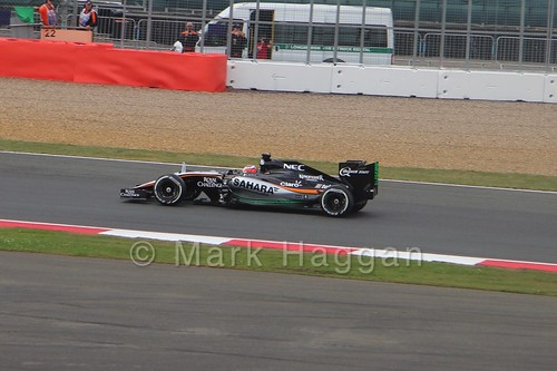 Nico Hulkenberg in the 2015 British Grand Prix at Silverstone