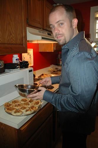 Hot Huz Preparing Fruit Tarts