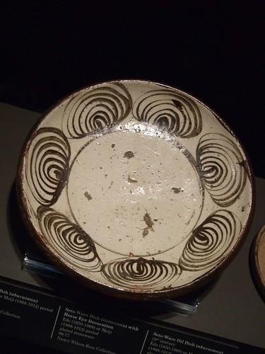 Seto Stoneware horse eye pattern platter 18th century CE Japan