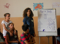 Girls Presenting Peace Message