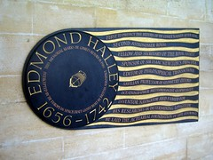Edmond Halley Commemorative Plaque Westminster...