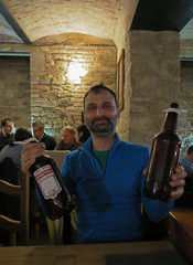 Umut happy in Labut brewery wining Special beer